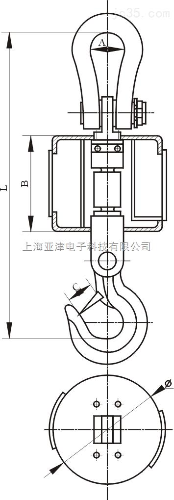 太原市直视电子吊秤工矿企业计量称重1T工业直视吊秤