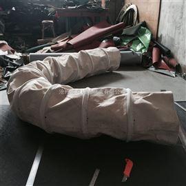 矿粉输送加强型双层加厚帆布伸缩布袋