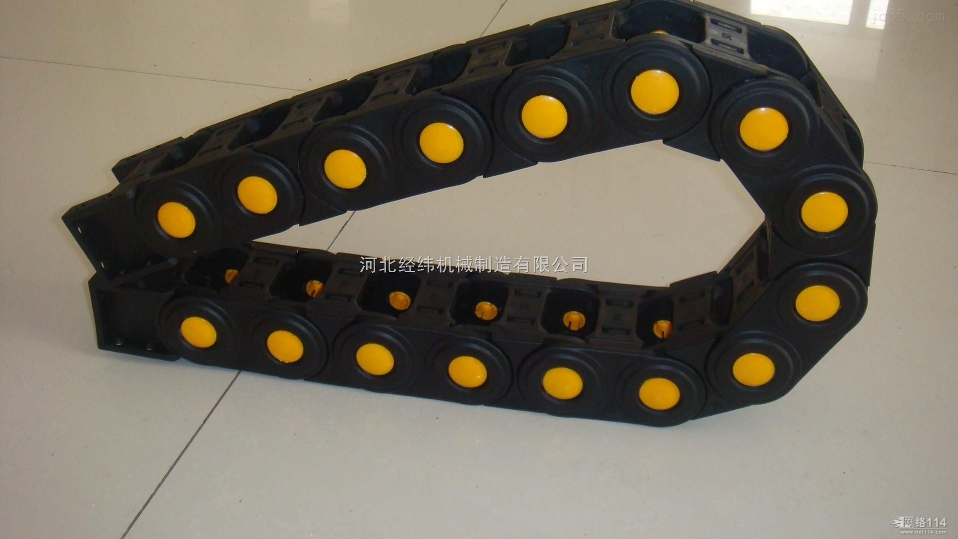 重型工程除尘穿线油管塑料拖链