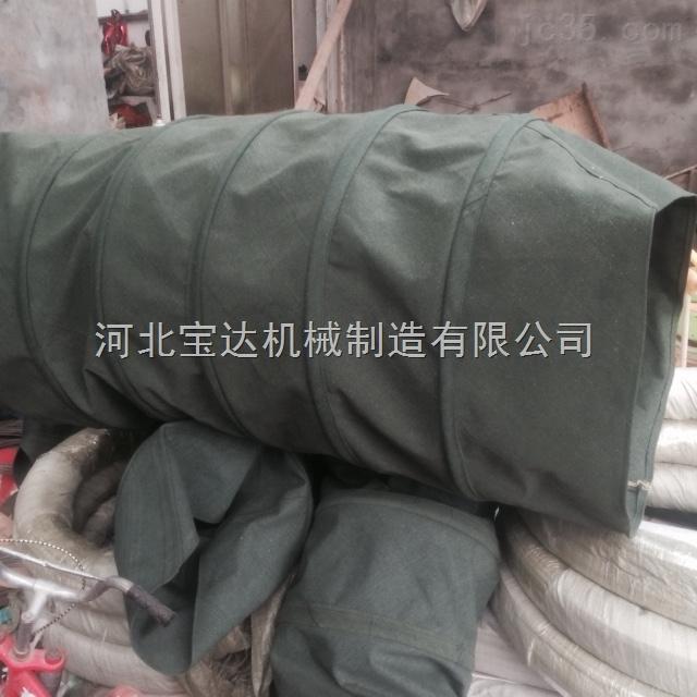 青州风机耐高温加厚帆布通风伸缩软连接