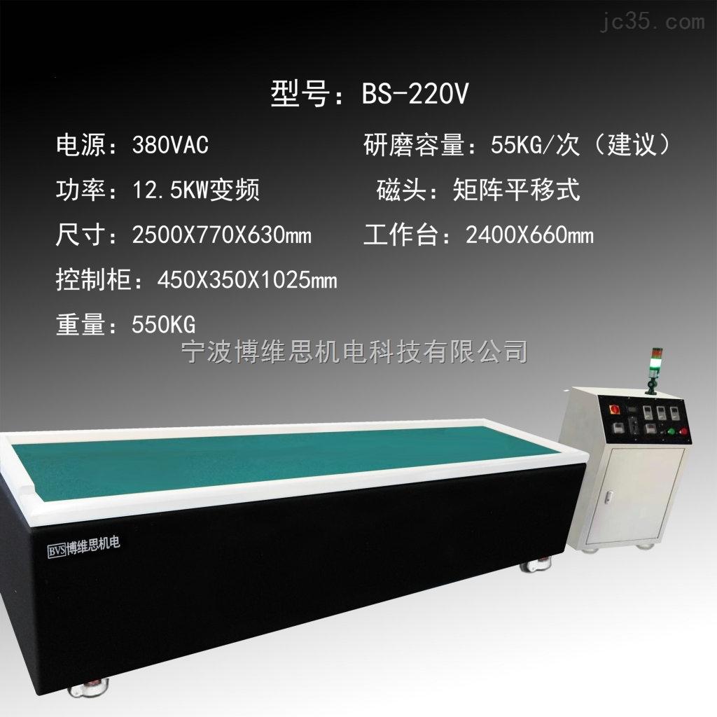 浙江大型磁力研磨机BS-220V博维思抛光机