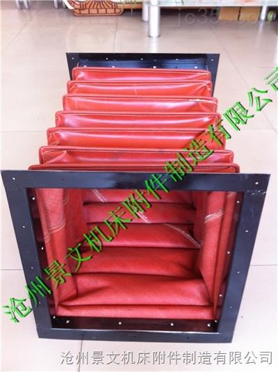 红色硅胶布方形高温通风软管生产