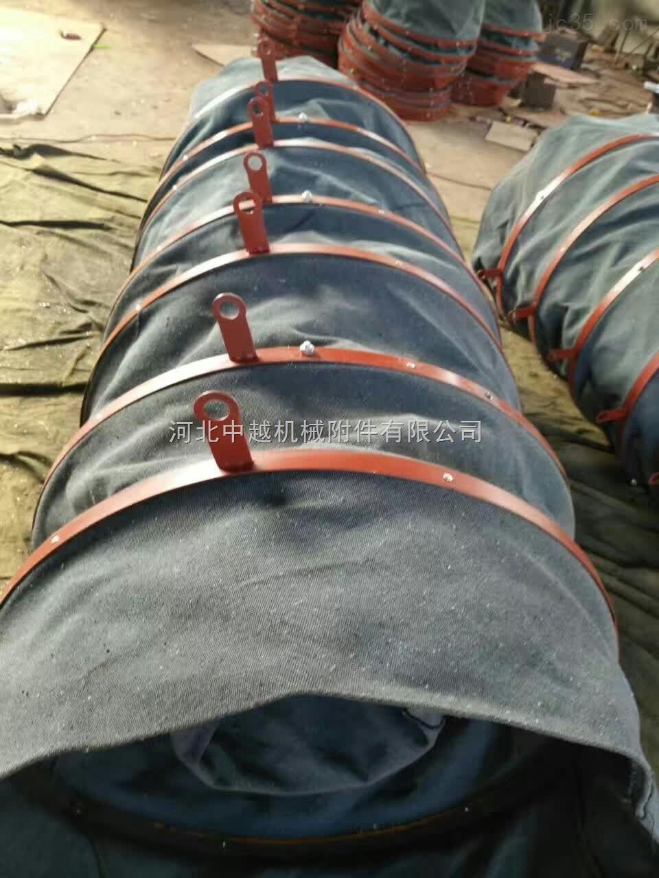 纯棉帆布吊环式水泥散装伸缩布袋长期供应