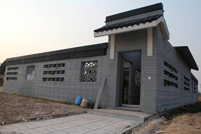 3D打印别墅亮相山东滨州 造价每平5000元