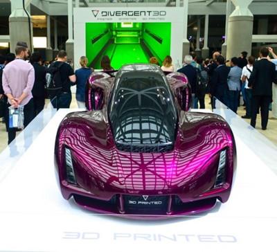 3D打印公司展示最新研发工艺打造的3D打印超跑