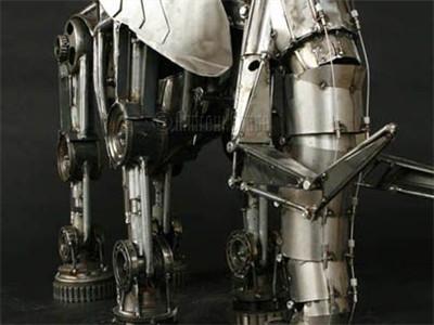 机械动物艺术作品展示:机械拼接,工业风艺术雕塑