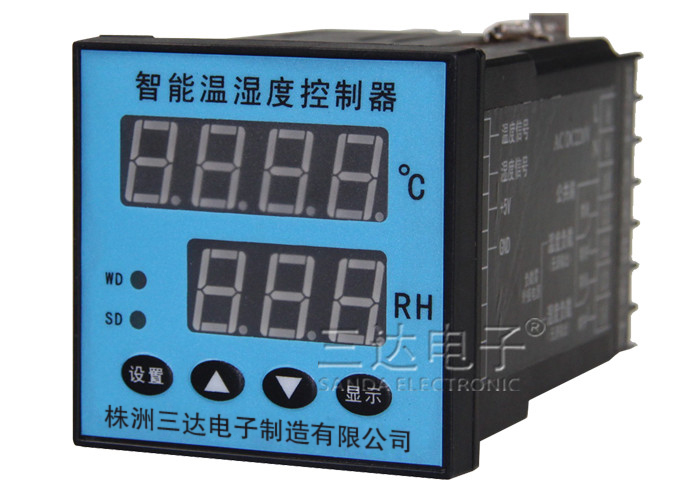 XTM-6201A智能温湿度控制器可同时对温度、湿度信号进行测量控制,并实现数字显示,还可通过按键对温湿度分别进行上、下限设置和显示,从而使仪表可以根据现场情况,自动启动风扇或加热器,对被测环境的被测环境的实际温、湿度自动调节。广泛适用于高低开关柜、端子箱、箱式变电站等多种柜型。